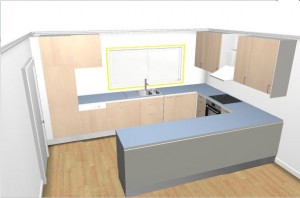 Kitchen design using IKEA software