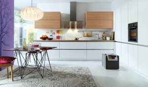 A Schuller kitchen like this would do the trick - maybe! But not with that floor ...