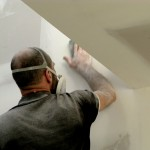 Hand finishing the lined walls